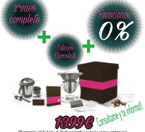 Thermomix® edición chocolate y FINANCIACIÓN AL 0% de interés